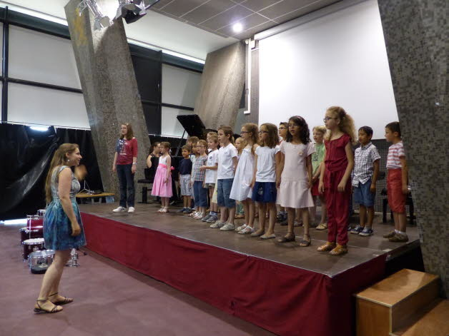 La chorale des enfants. Photo Evelyne Giudice