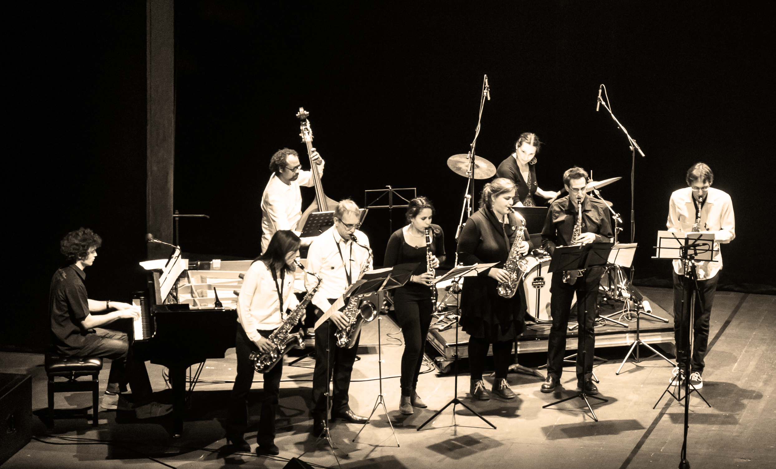 L'ensemble jazz de l'EMGC. Photo : famille Genty.